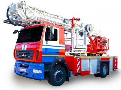 Фото АПК-30 (МАЗ 5340) - Автоподъемник пожарный коленчатый