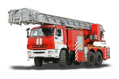 Фото Автолестница пожарная АЛ-32 (КАМАЗ 43118)