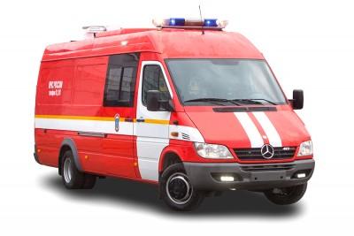 Фото Пожарно-спасательный автомобиль с медицинским модулем  для ликвидации последствий дорожно-транспортных происшествий ПСА-ММ (Mercedes)